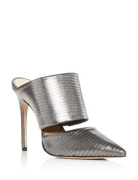 Quedera Pointed Toe High Heel Mules by Schutz