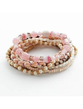Mudd® Two Tone Bead Stretch Bracelet Set by Mudd