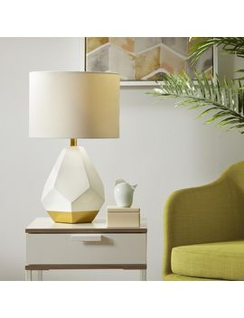 Urban Habitat Facet White/ Gold Table Lamp by Urban Habitat