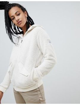 The North Face Womens Campshire Bomber Fleece In White by The North Face