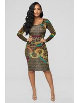 Let's Start A Chain Reaction Dress   Brown by Fashion Nova