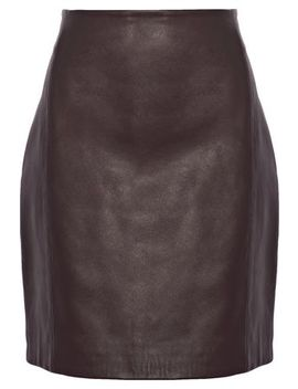 Donkin Leather Mini Skirt by Iro