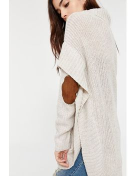 Turtleneck Elbow Patch Poncho by Ardene