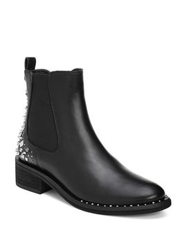 Women's Dover Studded Back Leather Booties by Sam Edelman