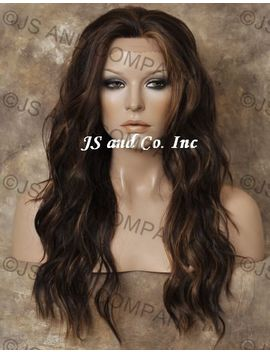 Heat Safe Full Lace Front Wavy Long Wig Brown Mix Futura Wbyv 4 27 30 by Ebay Seller