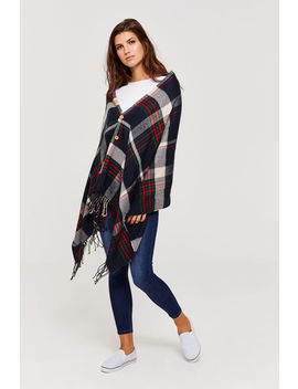 Button Down Poncho by Ardene