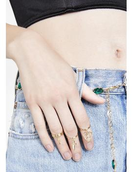 Holy Charm Ring Set by Fame Accessories