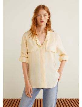 Lapelled Texture Blouse by Mango