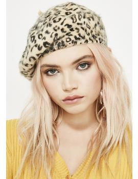 Feral Flirt Leopard Beret by Fame Accessories