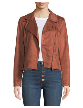 Faux Suede Motorcycle Jacket by Bagatelle