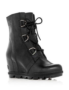 Women's Joan Of Arctic Ii Waterproof Leather Hidden Wedge Boots by Sorel