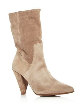 Women's Labella Suede High Heel Booties by Kenneth Cole