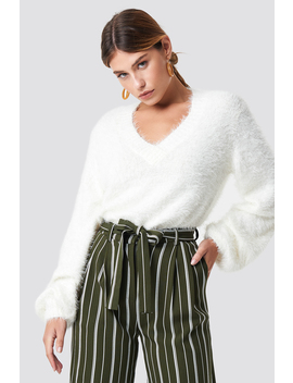 Hairy Deep V Neck Sweater by Na Kd