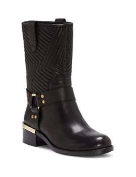 Women's Walden Round Toe Leather Booties by Vince Camuto