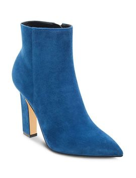 Women's Mayae Suede Pointed Toe High Heel Booties   100 Percents Exclusive by Marc Fisher Ltd.