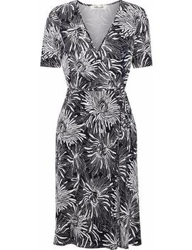 Asher Floral Print Silk Jersey Wrap Dress by Diane Von Furstenberg