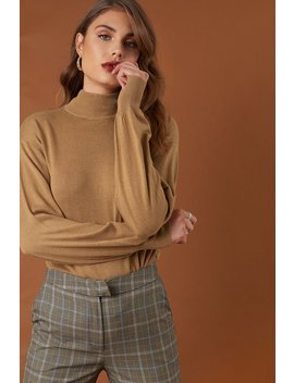 High Neck Balloon Sleeve Sweater by Na Kd Trend