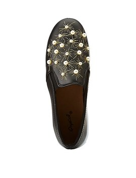 Qupid Pearl Slip On Sneakers by Charlotte Russe