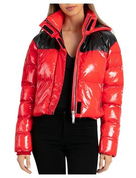 Cropped Hooded Puffer Jacket by Bagatelle.Nyc