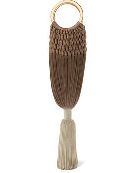 Angelou Small Tasseled Crochet Clutch by Cult Gaia