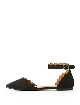 Scalloped Pointed Toe D'orsay Flats by Charlotte Russe