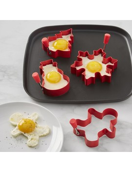 Williams Sonoma Holiday Silicone Egg Fry Rings, Set Of 4 by Williams   Sonoma