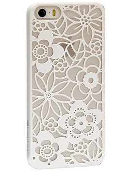 Tact Flora Design Slim Fit Rubber Coating Protective Hard Case Cover For Apple I Phone 5 And 5s by Great Shield