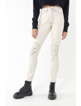 Bdg Quinn High Rise Contrast Stitch Skinny Jean by Bdg