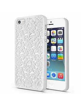 Century Accessory Tact Series Design Pattern Rubber Coating Ultra Slim Fit Hard Case Cover For Apple I Phone 5 / 5 S(White) by Century Accessory