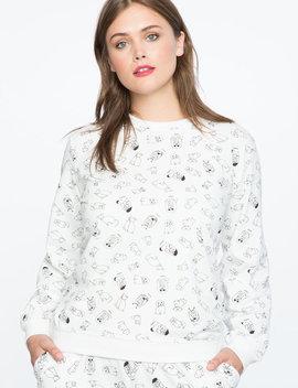Eloquii X Katie Sturino Printed Sweatshirt by Eloquii