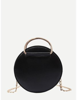 Round Shaped Chain Bag by Romwe