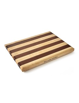 Williams Sonoma Striped Cutting Board, Maple & Walnut by Williams   Sonoma