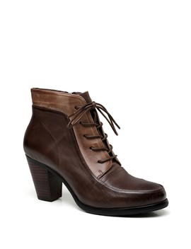 Leonie Stacked Block Heel Leather Boot by Vicenzo Leather