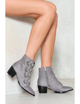 Can't Pin Ya Down Stud Bootie by Nasty Gal