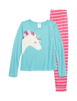 unicorn-fitted-two-piece-pajamas by tucker-+-tate