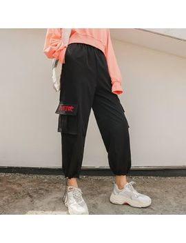 Hello Lucy   Embroidered Cargo Pants by Hello Lucy