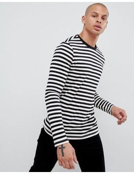 Asos Design Long Sleeve Stripe T Shirt by Asos Design