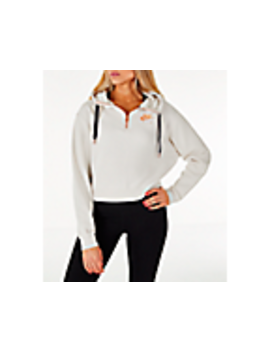 Women's Nike Sportswear Air Crop Half Zip Hoodie by Nike
