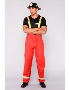 Mr. Flame 3 Piece Costume   Red by Fashion Nova