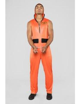 Escaped Convict Costume   Orange by Fashion Nova