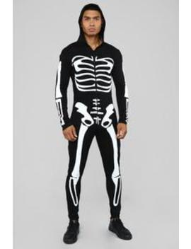 Mr. Bonez Costume   Black/White by Fashion Nova