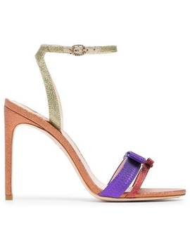 Andie 100 High Heeled Glitter Leather Sandals by Sophia Webster