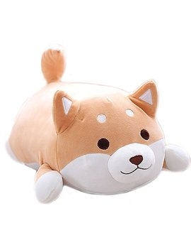 Miss Tutu Shiba Inu Dog Super Soft Plush Throw Pillow Lifelike Animal Pillows Plush Toy For Valentine's Gift, Bed,Sofa Chair by Miss Tutu