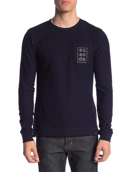 Logo Print Crew Neck Pullover by Scotch & Soda