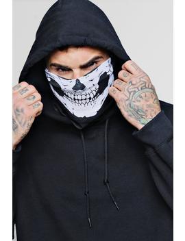 Halloween Skull Face Bandana Mask by Boohoo