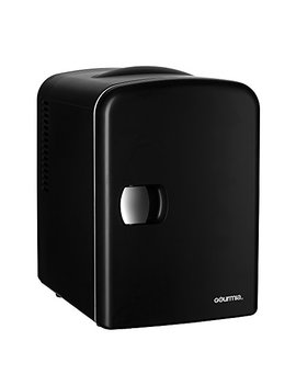 Gourmia Gmf600 Thermoelectric Mini Fridge Cooler And Warmer   4 Liter/6 Can   For Home,Office, Car, Dorm Or Boat   Compact & Portable   Ac & Dc Power Cords   Black by Gourmia