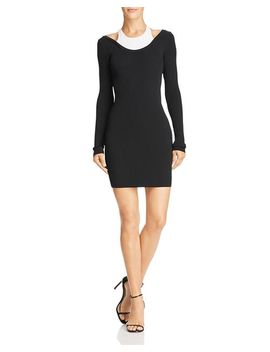 Layered Look Mini Dress by T By Alexander Wang
