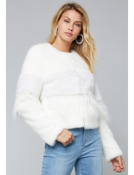 Mixed Faux Fur Jacket by Bebe