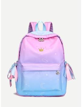 Crown Detail Bow Tie Backpack by Sheinside