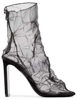 Black D'arcy 105 Mesh Leather Ankle Boots by Nicholas Kirkwood
